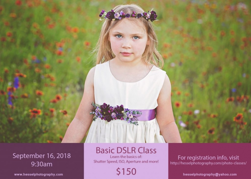 Fall 2018 Basic Photo Class Flyer