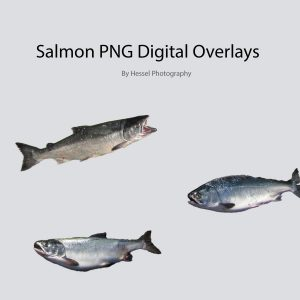salmon png digital overlay